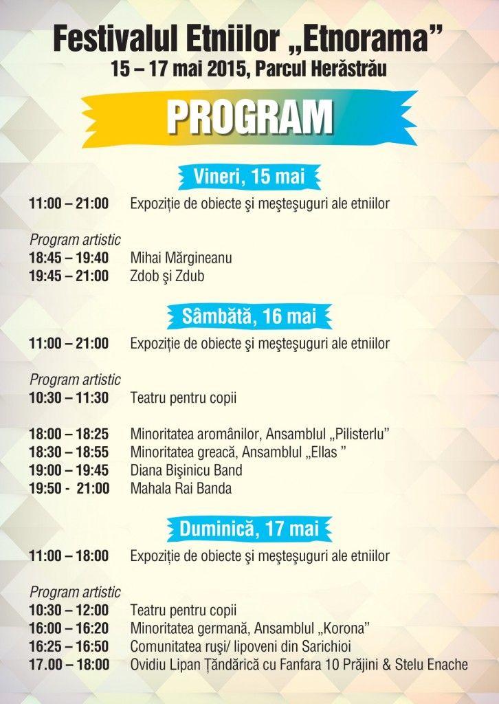Program ETNORAMA 1