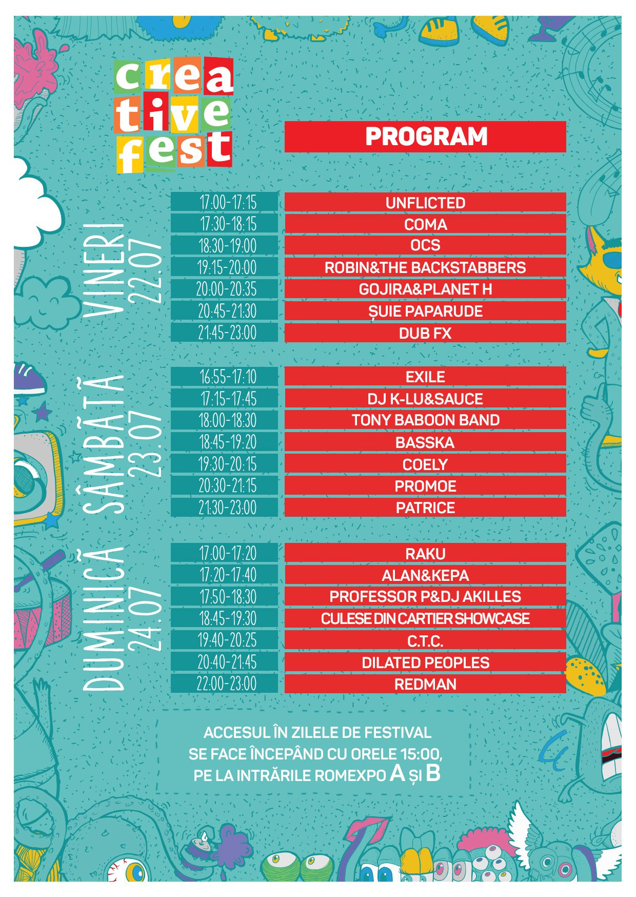 Flyer program Creative Fest